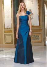 Free Shipping Turkish Style Cheap Fast Shipping A Line Floor Length Long One Shoulder Bridesmaid Dress BD061