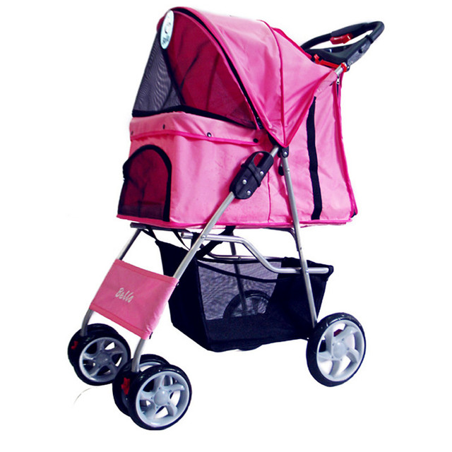 2016 Four wheel Pet Stroller Dog Pushchair Pram/doggy