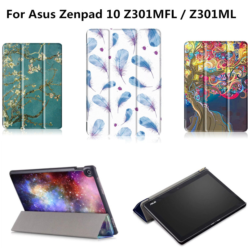Printed funda Cute cover magnetic ultra slim stand case For ASUS Zenpad 10 Z301MFL Z301ML Z300C Z300CL Z300CG Z300M 10.1 Tablet for asus zenpad s 8 0 z580c case multiple viewing angles ultra compact slim card holder hand strap stand case cover