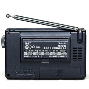 Image 2 - TECSUN DR 920C czarny Alarm Radio z budzikiem cyfrowy przenośny wyświetlacz FM/MW/SW wielu zespół o wysokiej czułości LCD Audio Radio kampusu