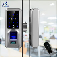 Sliding Door Fingerprint Lock Glazing Smart Door Lock Remote Touch Screen Doorbell Office Single Double Glass Door