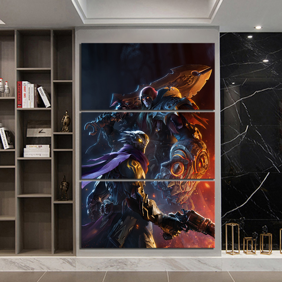3 Piece Darksiders Genesis Game Poster Paintings Hd Fantasy Art War And Strife Darksiders Picture Wall Paintings For Home Decor Painting Calligraphy Aliexpress