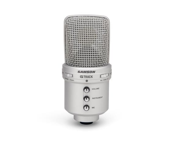 100 Original Samson G track G Track Usb Condenser Microphone With Built in Audio Interface Mixer For Podcasters Educators in Microphones from Consumer Electronics