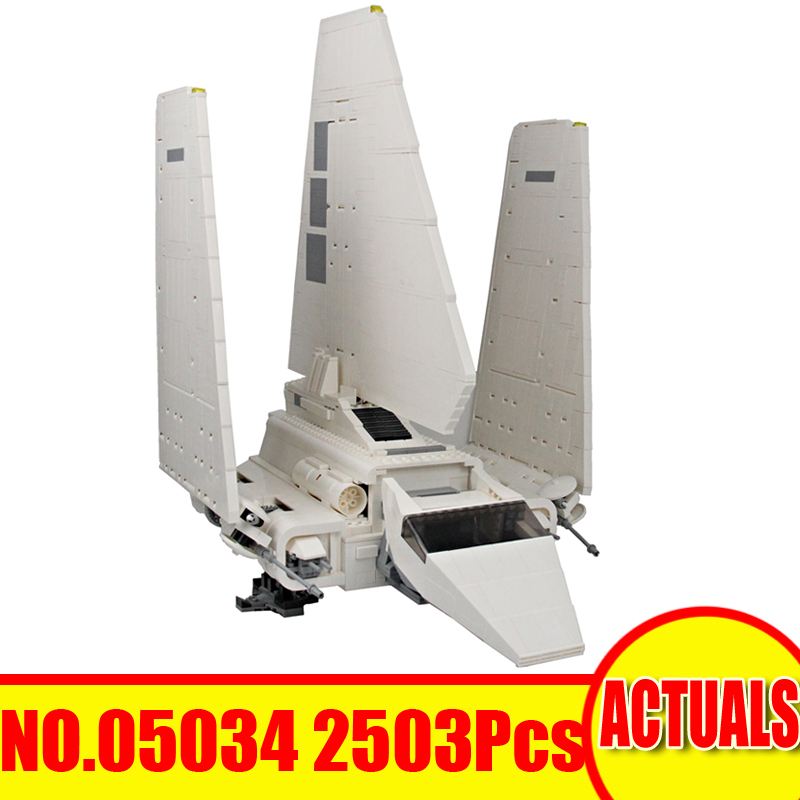 Lepin 05034 2503Pcs Star Wars Figures Imperial Shuttle Building Model Blocks Bricks Set Kids Toys For Children Compatible 10212 2503pcs large star wars sets imperial shuttle spacecraft the space battle building block toys kits best technic toys for kids