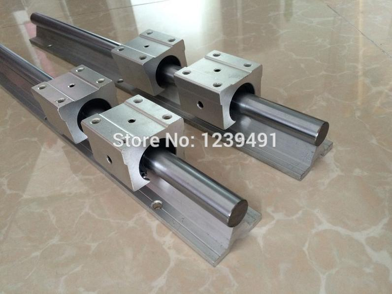 4 set linear rail sbr16-825/400mm + LM16UU 2 ballscrew SFU1605-850/450mm BK12 BF12 1605 nut housing screw locker