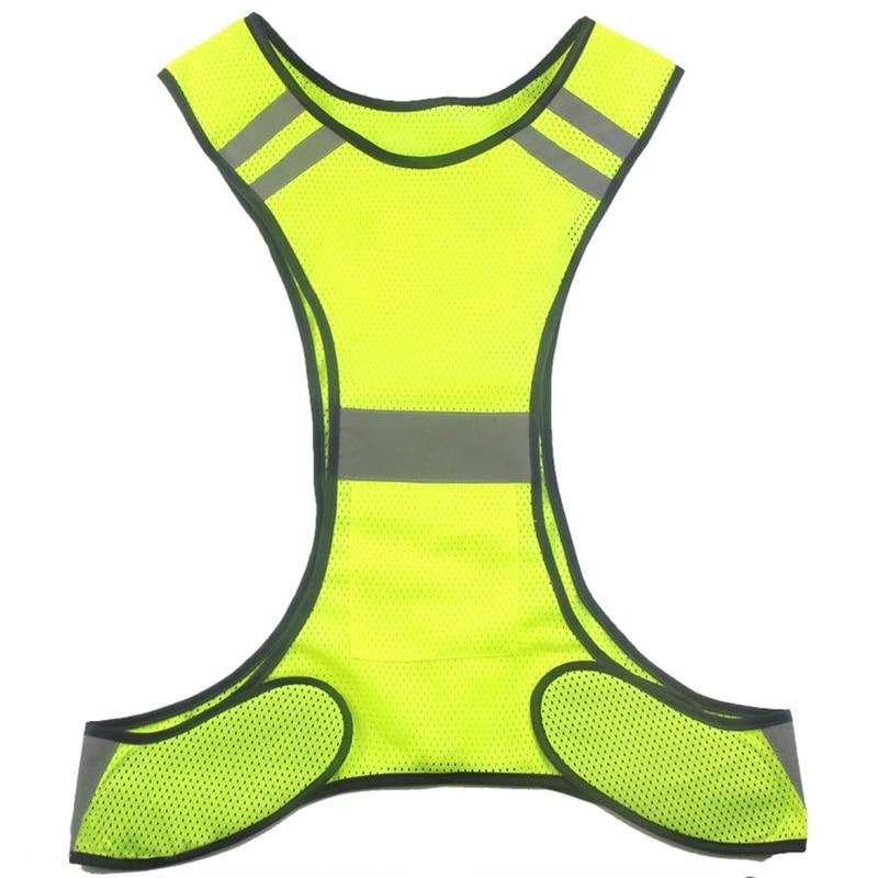 Chaleco reflectante de alta visibilidad para correr Chaleco de malla - Ropa deportiva y accesorios - foto 4