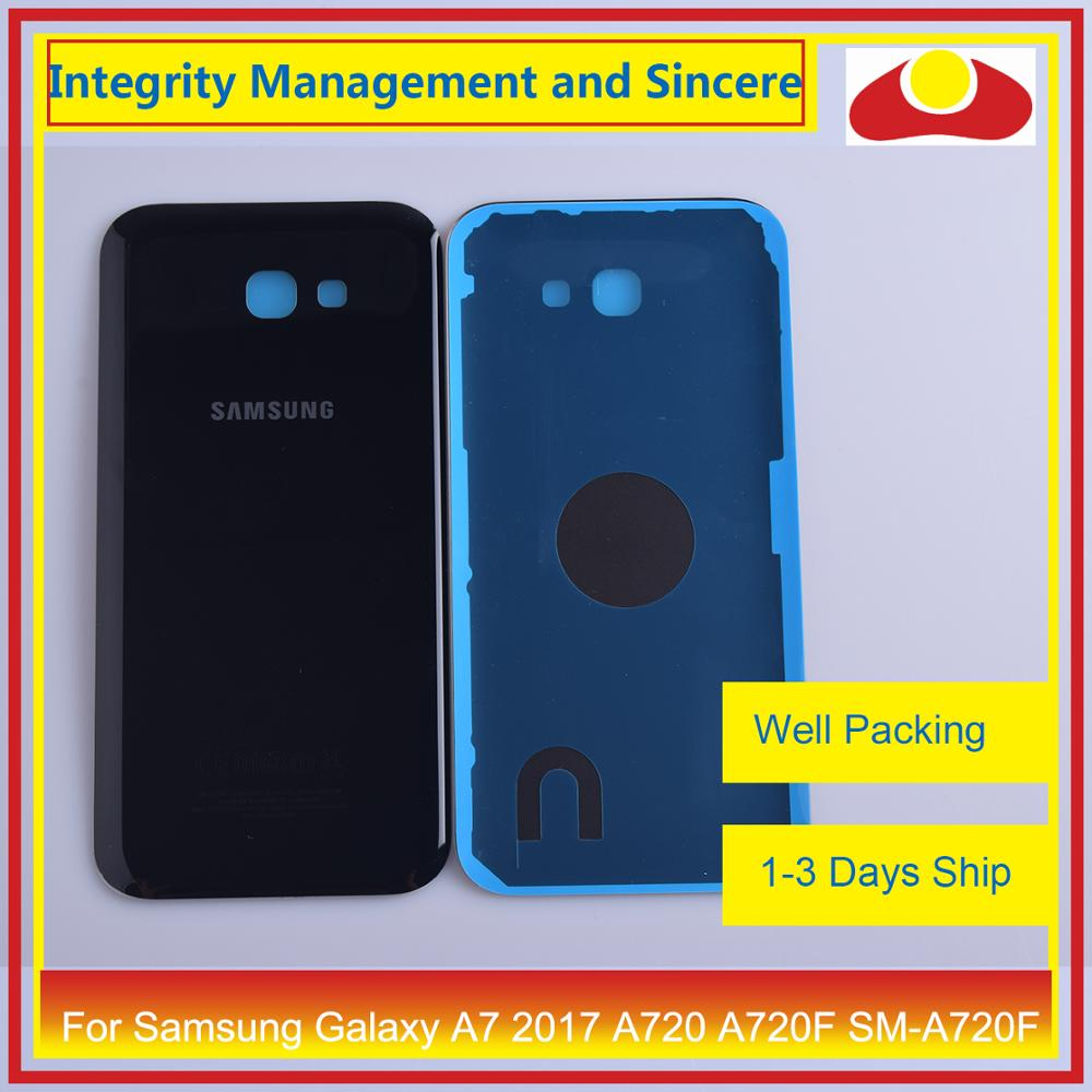 Image 4 - 50Pcs/lot For Samsung Galaxy A7 2017 A720 A720F SM A720F Housing Battery Door Rear Back Cover Case Chassis Shell Replacement-in Mobile Phone Housings & Frames from Cellphones & Telecommunications