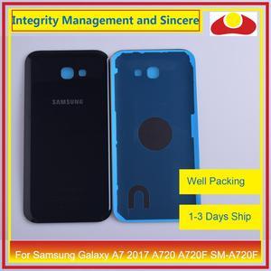 Image 4 - Orijinal Samsung Galaxy A7 2017 A720 A720F SM A720F batarya muhafazası kapı arka arka kapak kasa şasi kabuk değiştirme