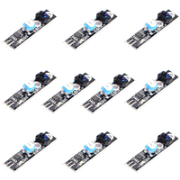 10pcs 1 Channel Tracing Module Intelligent Vehicle Tracking Probe Infrared Black White Line Detection Sensor