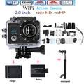 Бесплатная доставка Hero 4 Style 4 K HD 14MP Действия WI-FI видеокамера 1080 P 2.0 дюймов 170 градусов ультра-широкий 30 М водонепроницаемый камера