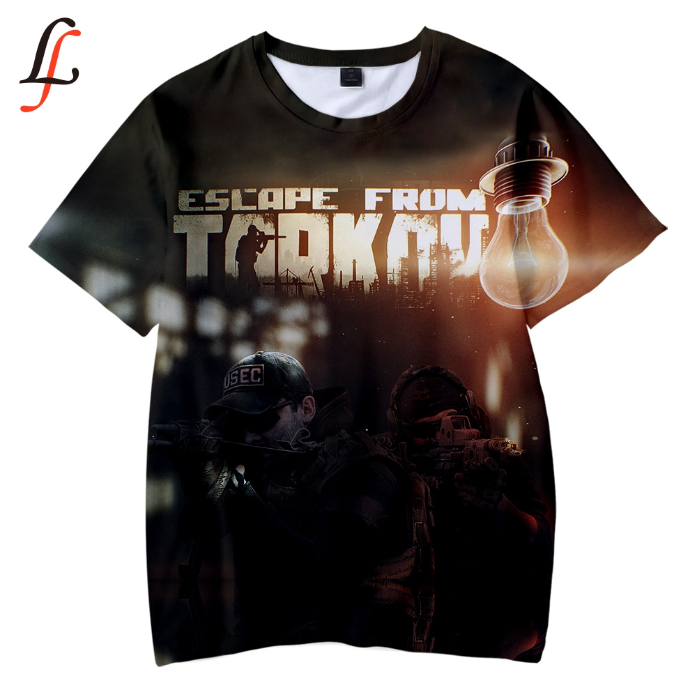 Escape from Tarkov 3D Kids T-shirt Soft Round Collar T shirt Kpop Casual Boys and Girls Love Fashion New children's tee shirt 1