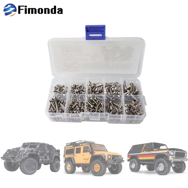Fimonda Model Car Screws Kit w/ Body Shell Clip Pin Hexagon Socket Head Cap Screw Full Set for Traxxas TRX-4 82056-4 1:10 RC Car