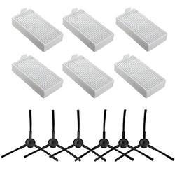 Лучшие продажи 6x боковая щетка 6x HEPA фильтр комплект для CHUWI ilife v5s v5 x5 ilife V3s v3s pro v3l v5s pro v50 робот пылесос