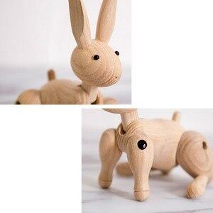 Image 3 - ファッション木製の装飾品ウサギの置物ノルディック装飾ホームかわいい動物工芸品