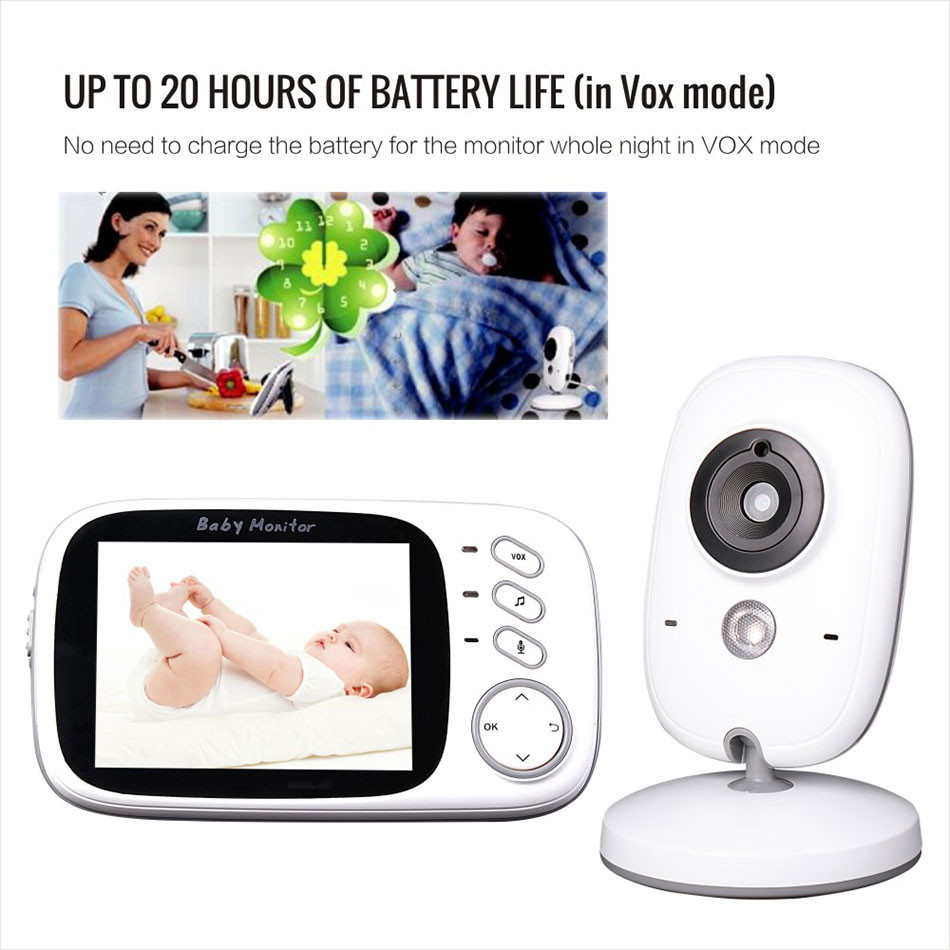 VB603 Baby Monitoring 3.2 Inch 2.4g Infant/Babies Camera Monitor Wireless Kid Caretakers Two-Ways Intercom vb603 new two way intercom intelligent alarm mobile monitoring wireless baby monitor
