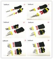 5 полный комплект 2 контактный способ 1/2/3/4/5/6 контакты амп супер печать водонепроницаемый электрический провод разъем для автомобиля