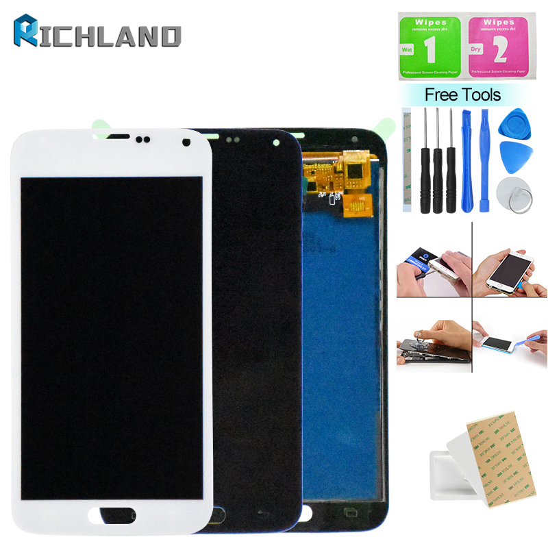 <font><b>G900F</b></font> LCD For Samsung Galaxy S5 <font><b>G900F</b></font> G900M G900A G900T LCD Display Touch Screen Assembly For Samsung S5 <font><b>G900F</b></font> G900M Display image