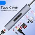 Thunderbolt 3 USB Type-c к HDMI 4K VGA USB3.0x3 концентратор TF SD слот USB-C PD аудио Женский Портативный 9в1 адаптер для Macbook Pro 2018