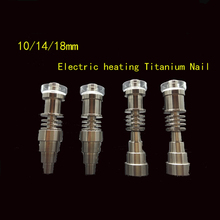 Top selling 10/14/18mm 6 in 1 Titanium nails/Quartz E-Nails for 16mm or 20mm Enail Coil,recycler oil rigs bong Christmas gift