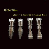 Top vendendo 10/14/18mm 6 em 1 titanium unhas/quartzo e-as unhas por 16mm ou 20mm e unhas bobina, cachimbos de água de reciclagem de plataformas de petróleo