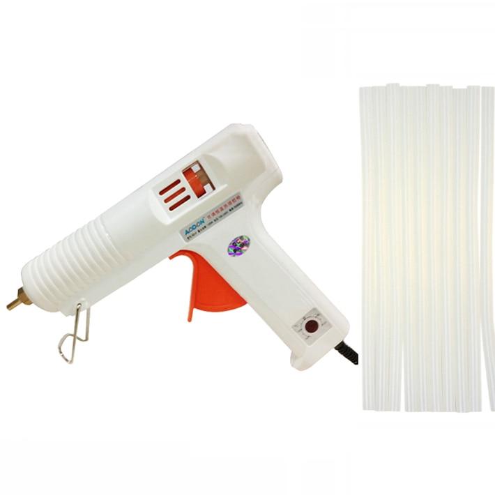 120W Hot Melt Glue Gun Electric Heat Temperature Graft Repair font b Tool b font 10Pcs