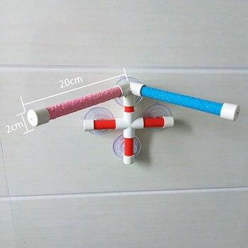 High Quality Parrot Bath Shower Standing Platform Rack Parrot Climbing and Biting Shower Perch Parakeet Bird Toy Random Color 3