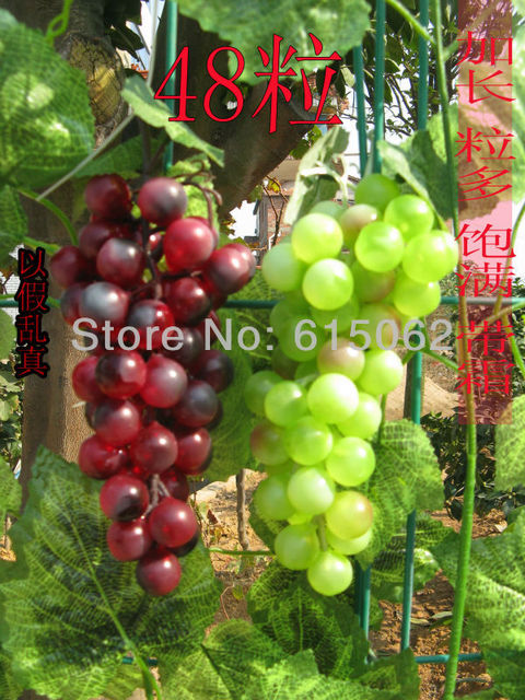 Artificial Fruit Hanging 48 Grapes Fake Grape Bunch Home Decor Restaurant  Decoration Chiristmas Trees Decorative