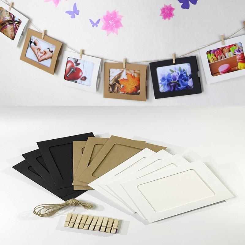 10 Pièces Bricolage Combinaison Papier Photo Cadre Photo Clips Artisanat Jouets Enfants Décoration Murale Drôle Enfants Jouer Jeu Enfant Cadeau D'anniversaire Fabrication Habile