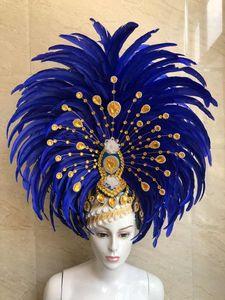 Image 5 - Feder kleidung Bühne leistung laufsteg karneval Kopfschmuck blume pubs partei männer tragen frauen kleidung