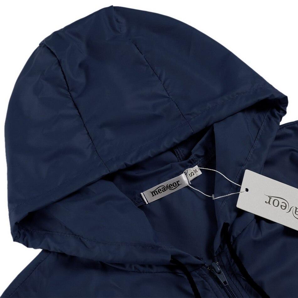 Meaneor autumn coat Women Hooded Jacket 2017 winter thin long sleeve Waterproof casual outcoat Outwear Plus size S,M,L,XL,XXL 3