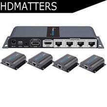 LKV714Pro HDMI разделитель utp 1X4 HDMI удлинитель cat5e/6 кабель до 40 м с 4 HDMI приемниками в комплекте+ 1 HDMI петля выход