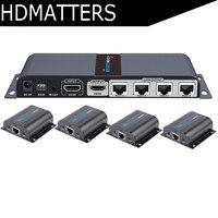 LKV714Pro HDMI разделитель UTP 1X4 HDMI Extender по cat5e/6 кабеля до 60 м с 4 HDMI приемники в комплекте + 1 HDMI loop out