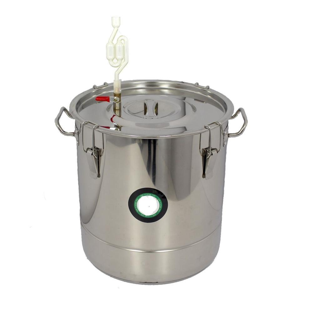 45L 301 Stainless Steel Fermenter Fermentation Barrel Home Brew Wine Beer mastering fermentation