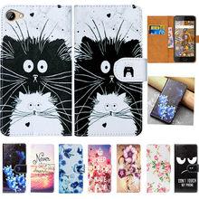 "For BQ BQ 5012L Case High Quality Pu Leather 5.0"" Print Flip Wallet Case Cover For BQ BQ-5012L Rich Book Case(China)"