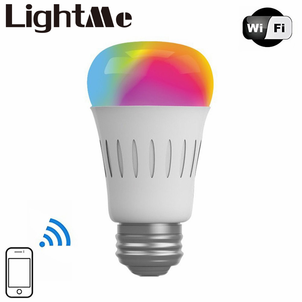 2016 AF820 E27 WIFI Enabled Multicolored 6W Smart WiFi RGBW LED Bulb 100 - 240V App Control for iOS Android Device For Bedroom bluetooth led bulb e27 rgbw 7 5w bluetooth 4 0 smart led bulb timer color changeable by ios android app