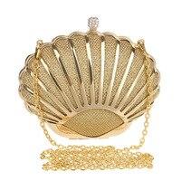 מעצב יוקרה נשים מעטפת מצמד ערב גברת תיק מפלגת האופנה ארנק ארנק סגסוגת קשה מצמד יום שקיות crossbody קטן זהב