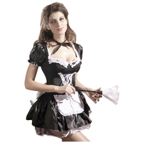 Free Shipping New 2014 Plus Size Sexy Costumes Erotic Lingerie Hot Late Nite Maid Outift H8181