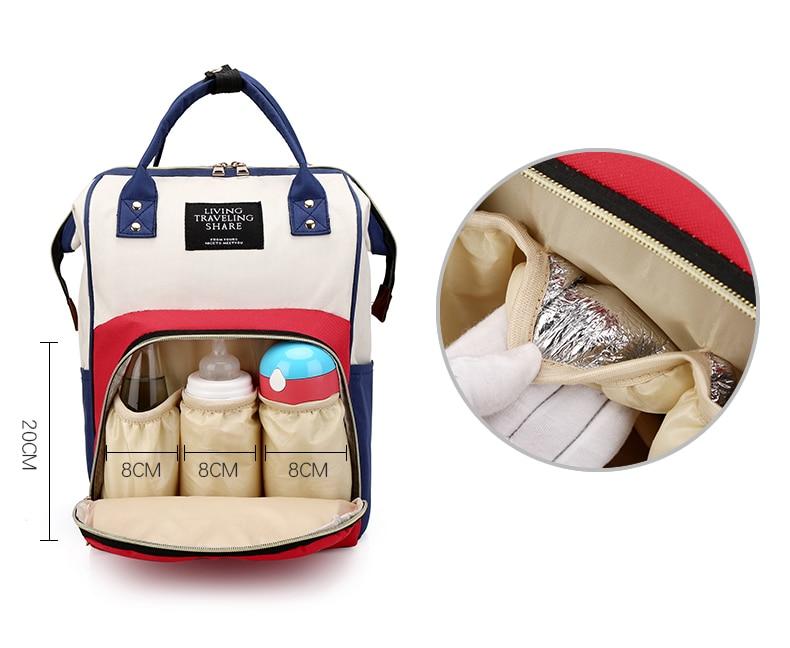 HTB1gHBBXwFY.1VjSZFnq6AFHXXaZ Large Capacity Mummy Bag Maternity Nappy Bag Travel Backpack Nursing Bag for Baby Care Women's Fashion Bag
