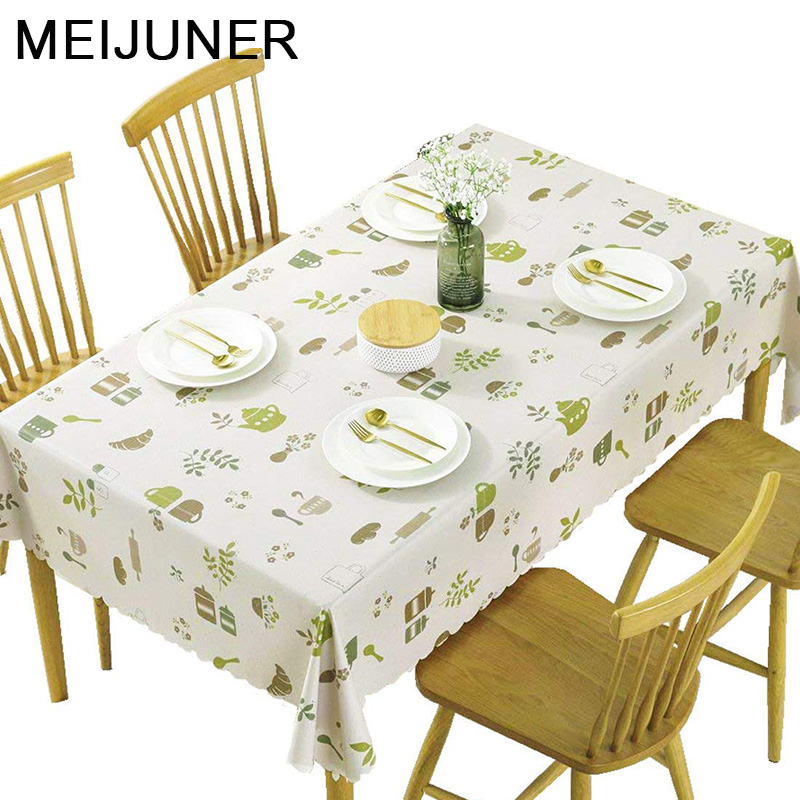 Meijuner New PVC Table Cloth Rectangular Waterproof Table Cloth Plastic  Solid Black Cloth Cover Home Decor Anti Scald MJ052