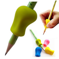 1pc Pencil Grips Occupational Therapy Handwriting Aid Kids Children Student School Stationery Pen Control Right Silicone