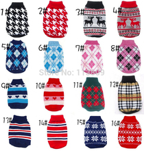 NEW HOT CHEAP DOG Sweater Pet Various Colors for Small Dogs Sz XS S M L XL  Wholesale retail Free Shipping