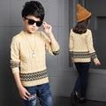 Moda Suéter 2016 Otoño Invierno Infantil de Las Muchachas Outwear Suéter de Algodón Niños Suéter de Los Niños prendas de Vestir Exteriores de Prendas de Punto Suéter Sujetador