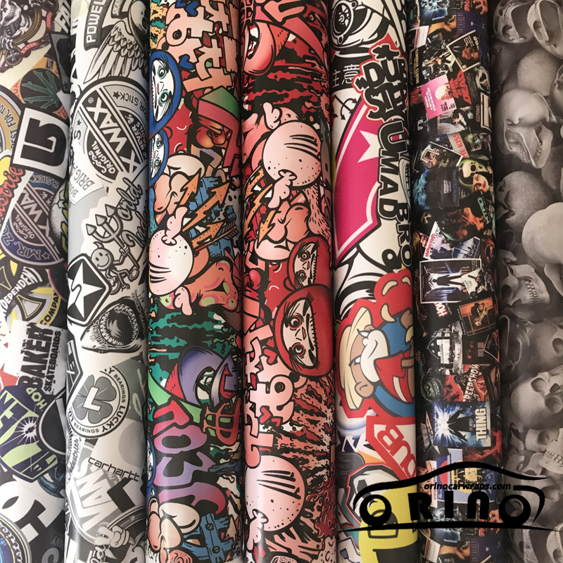 Matte Vinyl Film JDM Graffiti Car Sticker Bomb Wrap Stickers Motorcycle Decals Car Styling Wrapping 5FTX16