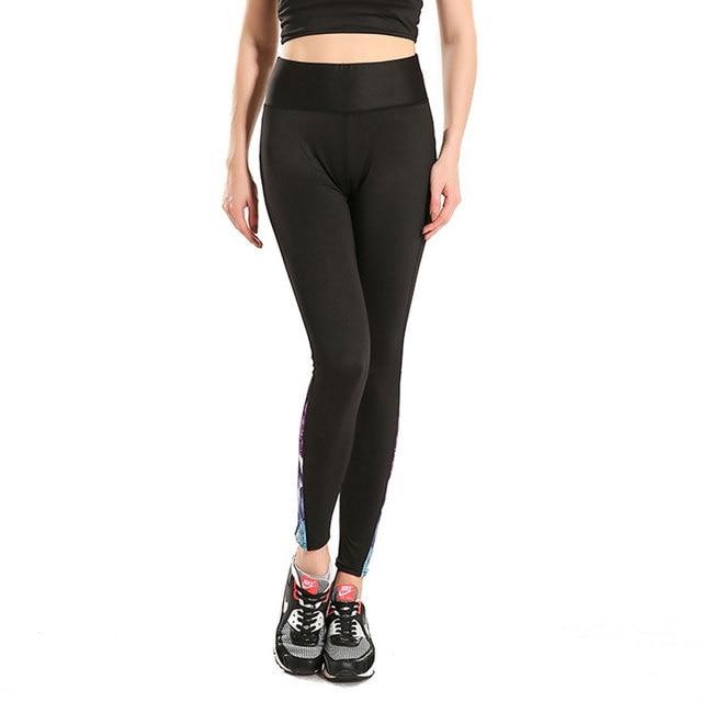 2016 Women Fitness Sporting Leggings High Quality Yuga Fitness Legging Pants Stitching Jeggings Workout Leggins Femme
