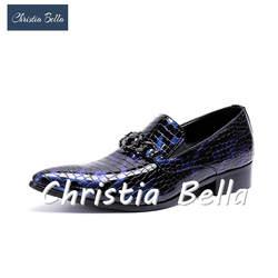 Кристиа Белла Мужская обувь Свадебные вечерние модельные туфли мужские брендовые дизайнерские Новые Летние Стильные туфли-оксфорды из