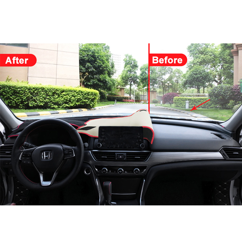 Image 2 - Car dashboard Avoid light pad Instrument platform desk cover Mats Carpet Anti UV LHD For Honda Accord 10th 2018 2019 Accessories-in Interior Mouldings from Automobiles & Motorcycles