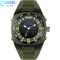SMAEL 1008 Luxury Brand Clock Men Military Sports Watches Digital LED Quartz Wristwatches Rubber Strap Relogio