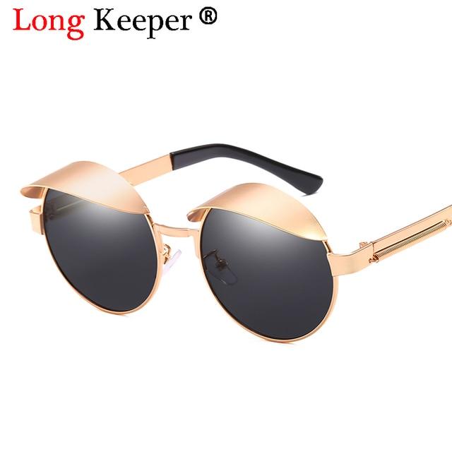 2ca2bfc023f0 Metal Round Steampunk Sunglasses Men Women Fashion Glasses Brand Designer  Retro Frame Vintage Sunglasses Hip Hop