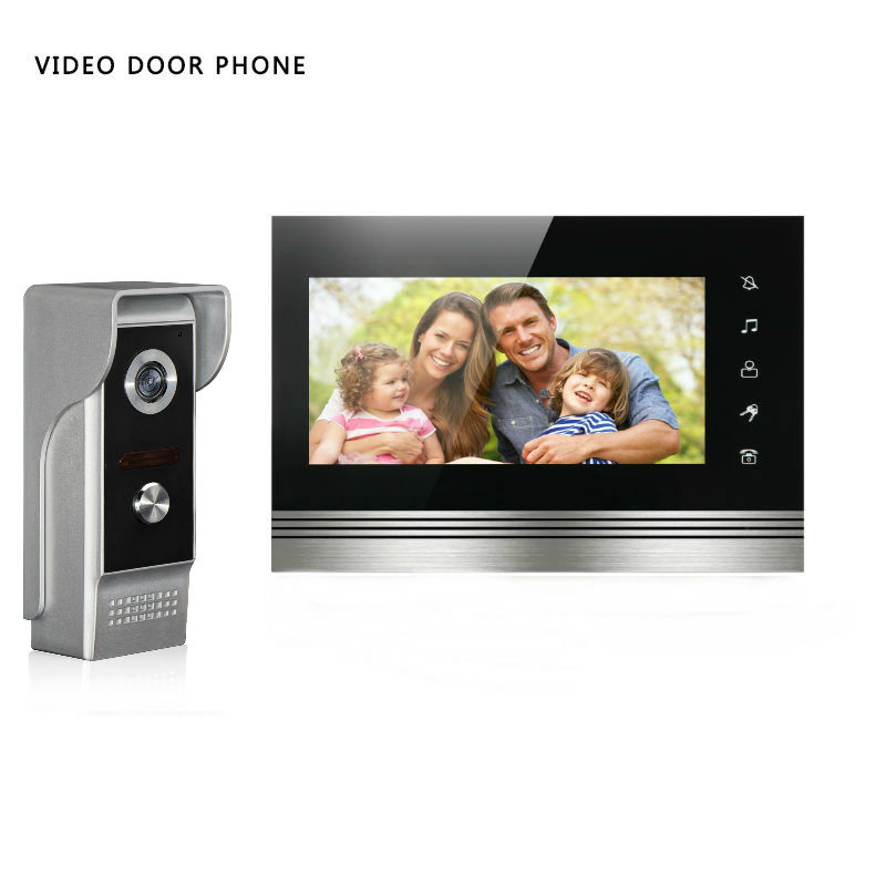 SmartYIBA Wired Video Intercom 7inch Touch Screen Visual Door Phone Support DVR Recorder And Take Photo IR Camera Weatherproof