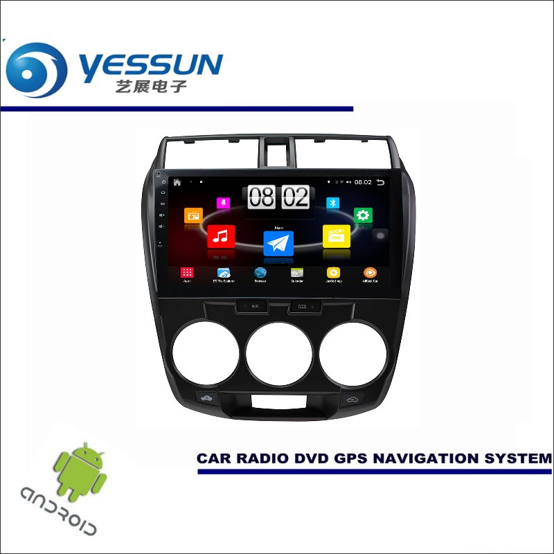 YESSUN автомобиля Android мультимедийный плеер для Honda City/City Ci 2008 ~ 2013 радио стерео gps Nav Navi (без CD DVD) 10,1 HD экран